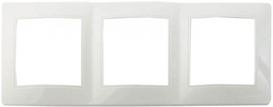 Рамка LUXAR Novo 02.923.01 на 3 поста белая универсальная