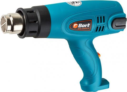 Bort BHG-2000N-LK Фен технический [91275431] { 2000 Вт, 3 режима, 500 л/мин, 0.8 кг, 4 насадки, Дисплей LED }