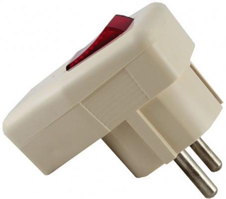 Вилка TDM SQ1806-0009 угловая с/з с выключателем белая 16А 250В узо tdm sq0220 0009