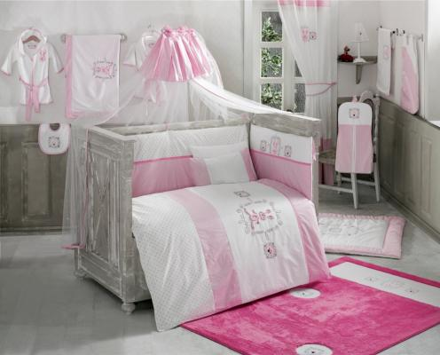 Постельный сет 4 предмета KidBoo Rabitto (pink) комплект постельного белья 3 предмета kidboo loony pink