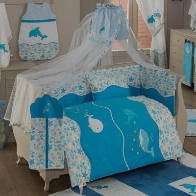 Постельный сет 4 предмета KidBoo Sea Life (blue) лиф blue life blue life bl036ewaxjs5