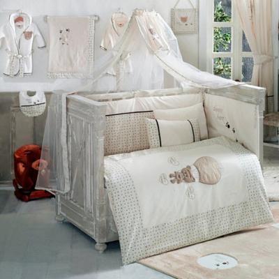 Постельный сет 6 предметов KidBoo Cute Bear (beige) комплект в кроватку kidboo cute bear 6 предметов pink