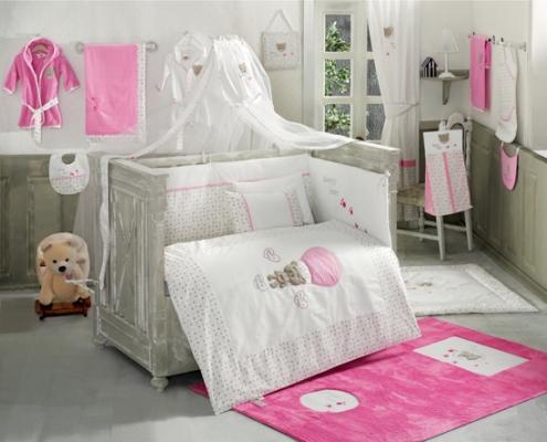 Постельный сет 6 предметов KidBoo Cute Bear (pink) комплект в кроватку kidboo cute bear 6 предметов pink