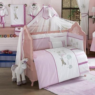Купить Постельный сет 6 предметов KidBoo Little Farmer (pink), розовый, 100 х 140 см, Постельные сеты