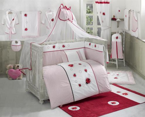 Купить Постельный сет 6 предметов KidBoo Little Ladybug (red), красный, 100 х 140 см, Постельные сеты