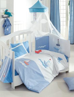 Купить Постельный сет 6 предметов KidBoo Marine (blue), 120 х 60 см, Постельные сеты