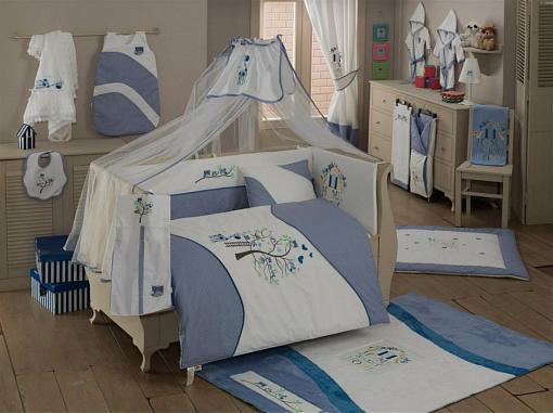 Постельный сет 6 предметов KidBoo Sweet Home (blue)