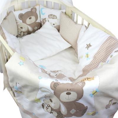 Постельный сет 7 предметов Labeillebaby Малышки постельный сет 7 предметов тайна снов сыроежкины сны салатовый