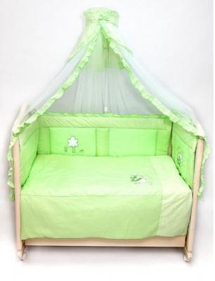 Постельный сет 7 предметов Labeillebaby Светик (зеленый) постельный сет 7 предметов тайна снов сыроежкины сны салатовый