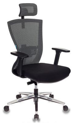 Картинка для Кресло руководителя Бюрократ MC-815-H/LG/FB01 спинка сетка светло-серый сиденье черный крестовина алюминий