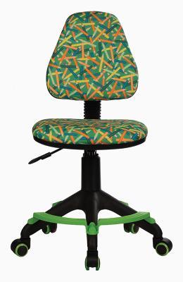 Кресло детское Бюрократ KD-4-F/PENCIL-GN зеленый карандаши кресло детское бюрократ kd 4 cosmos синий космос cosmos