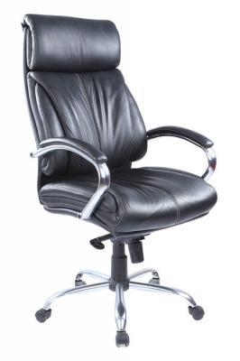 Кресло руководителя Бюрократ T-9000SL/BLACK черный кожа крестовина хром