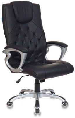 Кресло руководителя Бюрократ CH-S850/BLACK черный искусственная кожа (пластик серебро)