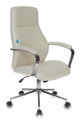 Кресло руководителя Бюрократ T-703SL/MILK молочный искусственная кожа крестовина хром кресло руководителя бюрократ кресло руководителя бюрократ t 9904sl
