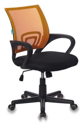 Фото - Кресло Бюрократ CH-695/OR/BLACK спинка сетка оранжевый TW-38-3 сиденье черный TW-11 кресло руководителя бюрократ kb 8 black черный tw 01 tw 11 сетка
