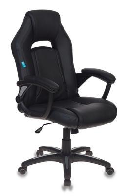 Кресло игровое Бюрократ CH-829/BL+BLACK черный искусственная кожа цена в Москве и Питере