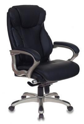 Кресло руководителя Бюрократ T-9916/BLACK черный рец.кожа/кожзам кресло руководителя бюрократ кресло руководителя бюрократ t 9904sl