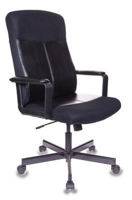 цена Кресло руководителя Бюрократ DOMINUS-KTW черный искусст.кожа/сетка крестовина металл в интернет-магазинах