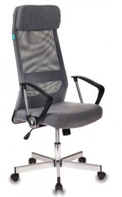 Кресло руководителя Бюрократ T-995HOME/GREY серый TW-04+ 10-128 сетка/ткань крестовина металл стул бюрократ виси черный серый серый 10 128