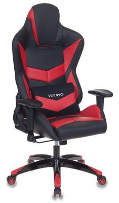 цена на Кресло игровое Бюрократ CH-773N/BL+RED одна подушка черный/красный искусственная кожа