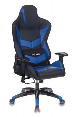 Кресло игровое Бюрократ CH-773N/BL+BLUE одна подушка черный/синий искусственная кожа кресло игровое бюрократ ch 774 на колесиках искусственная кожа черный синий синий [ch 774 bl blue]