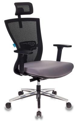 Картинка для Кресло руководителя Бюрократ MC-815-H/B/FB02 спинка сетка черный сиденье темно-серый сетка/ткань крестовина алюминий