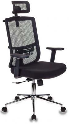 Картинка для Кресло руководителя Бюрократ MC-612-H/B/26-B01 черный BM-11 сиденье черный 26-В01 сетка/ткань крестовина хром
