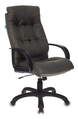 Кресло руководителя Бюрократ CH-824B/F4 темно-серый искусственный нубук кресло руководителя бюрократ ch 838axsn на колесиках искусственный нубук коричневый [ch 838axsn f5]