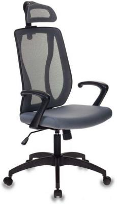 Кресло руководителя Бюрократ MC-411-H/DG/26-25 серый TW-04 сиденье серый 26-25 сетка/ткань кресло бюрократ mc 201 h dg tw 11 спинка сетка серый tw 04 сиденье черный