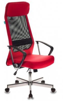 Фото - Кресло руководителя Бюрократ T-995HOME/RED черный/красный TW-01 сетка/ткань крестовина металл кресло руководителя бюрократ kb 8 black черный tw 01 tw 11 сетка