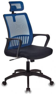 цена на Кресло Бюрократ MC-201-H/BL/TW-11 спинка сетка синий TW-05 сиденье черный TW-11