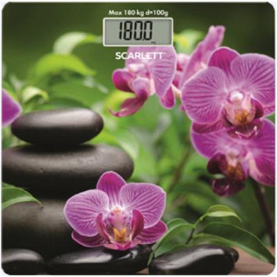 Весы напольные электронные Scarlett SC-BS33E038 макс.180кг рисунок/SPA камни весы scarlett sc bs33e064