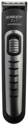 Машинка для стрижки Scarlett SC-HC63055 черный/серебристый 3Вт (насадок в компл:4шт)