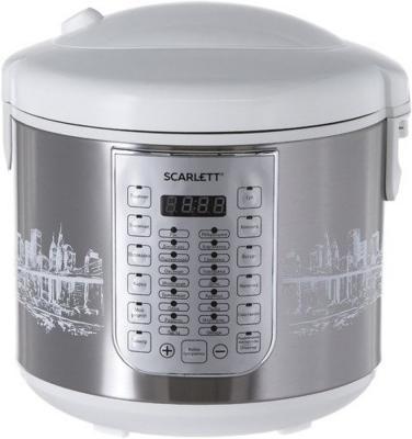 купить Мультиварка Scarlett SC-MC410S21 5л 900Вт белый по цене 3780 рублей