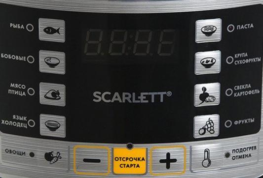 Мультиварка-скороварка Scarlett SC-MC410P02 5л 900Вт нержавеющая сталь/черный
