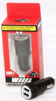 Автомобильное зарядное устройство Wiiix UCC-2-10B 2 х USB 2.1A черный автомобильное зарядное устройство wiiix ucc c 018 2 х usb 2 4а черный