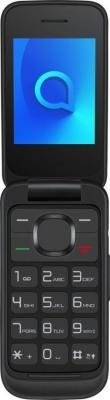 Мобильный телефон Alcatel 2053D OneTouch черный раскладной 2Sim 2.4 240x320 0.3Mpix BT GSM900/1800 GSM1900 MP3 FM microSD max21Gb мобильный телефон alcatel onetouch 2051d