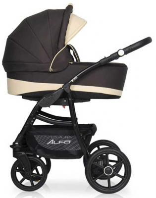 Коляска 3-в-1 Riko Alfa Ecco (08/коричневый-бежевый) коляска 3 в 1 expander mondo ecco 26 коричневый оранжевый