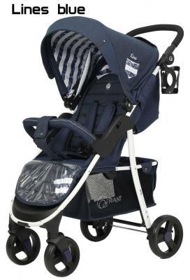 Купить Коляска прогулочная Rant Kira Trends RA055 (lines blue), синий, Прогулочные коляски