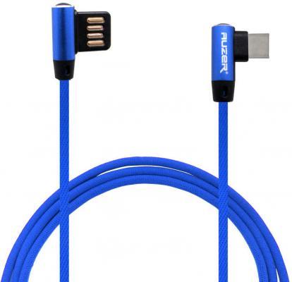 Фото - Кабель Type-C 1м Auzer AC-T26BE круглый синий брюки женские reebok ac ft pant цвет синий dh1408 размер xs 40