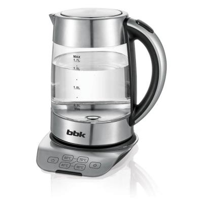 Чайник электрический BBK EK1723G 2200 Вт стальной 1.7 л пластик/стекло