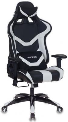 Кресло игровое Бюрократ CH-772N/BL+WHITE две подушки черный/белый искусственная кожа (пластик черный) кресло руководителя бюрократ ch 868axsn white белый