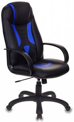 Картинка для Кресло игровое Бюрократ VIKING-8/BL+BLUE черный/синий искусственная кожа