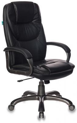Кресло руководителя Бюрократ T-9905DG/BLACK черный искусственная кожа (пластик темно-серый) цена и фото