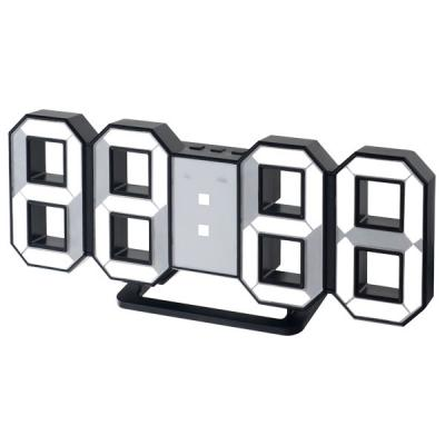 "Perfeo LED часы-будильник ""LUMINOUS"", черный корпус / белая подсветка (PF-663)"