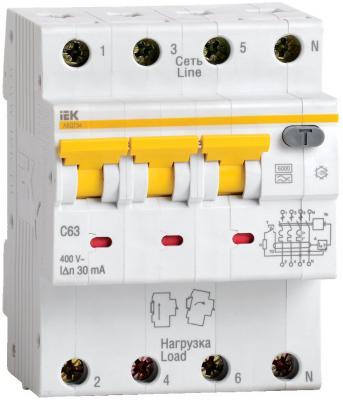 Выключатель автоматический дифференциального тока ИЭК 4п 10А/30мА С АВДТ 34 MAD22-6-010-C-30