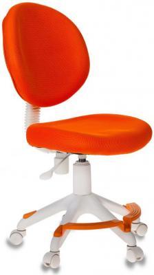 Кресло детское Бюрократ KD-W6-F/TW-96-1 оранжевый (пластик белый) кресло детское бюрократ kd 7 на колесиках ткань голубой [kd 7 tw 55]