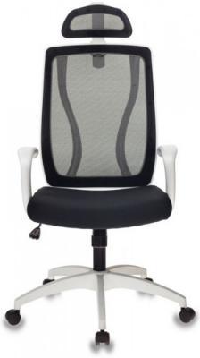 Кресло руководителя Бюрократ MC-W411-H/26-28 черный TW-01 сиденье черный 26-28 сетка/ткань (пластик белый)