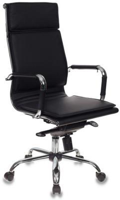 Картинка для Кресло руководителя Бюрократ CH-993MB/BLACK черный искусственная кожа крестовина хром