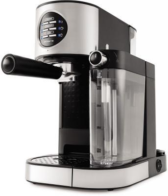 Кофеварка эспрессо Polaris PCM 1530AE Adore Cappuccino 1350Вт нержавеющая сталь/черный кофеварка эспрессо polaris pcm 1530ae adore cappuccino 1350вт нержавеющая сталь черный
